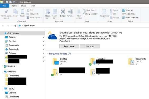 Pubblicità in Windows 10