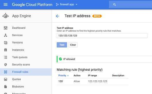 google app engine firewall