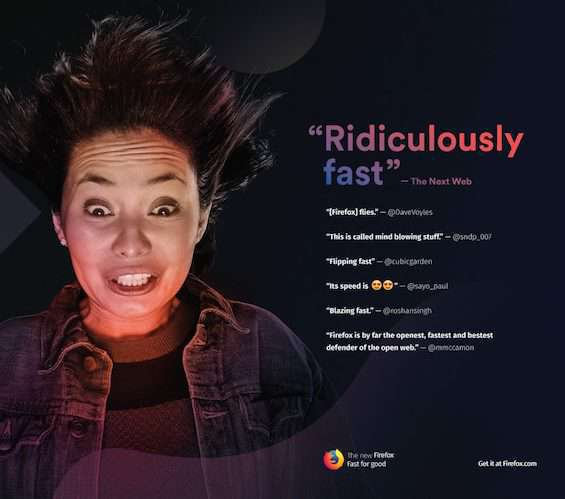 spazio pubblicitario firefox quantum
