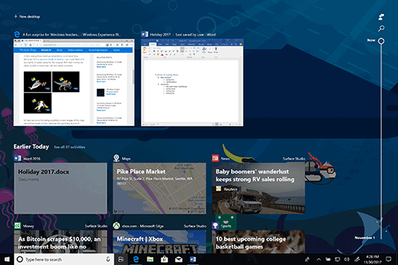 Un nuovo mega-pacco con Timeline e Set per Windows 10